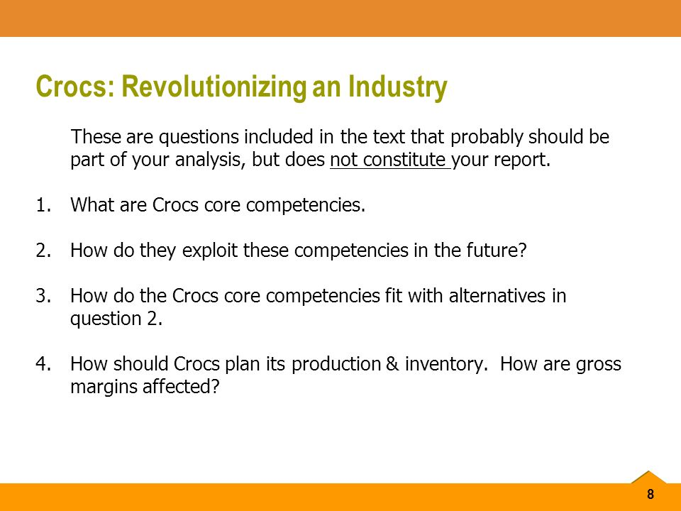 how should crocs plan its production and inventory