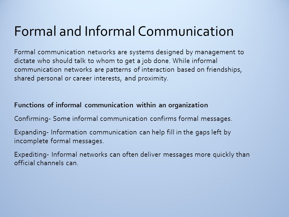 communication ii unit one ppt download4 formal and informal communication
