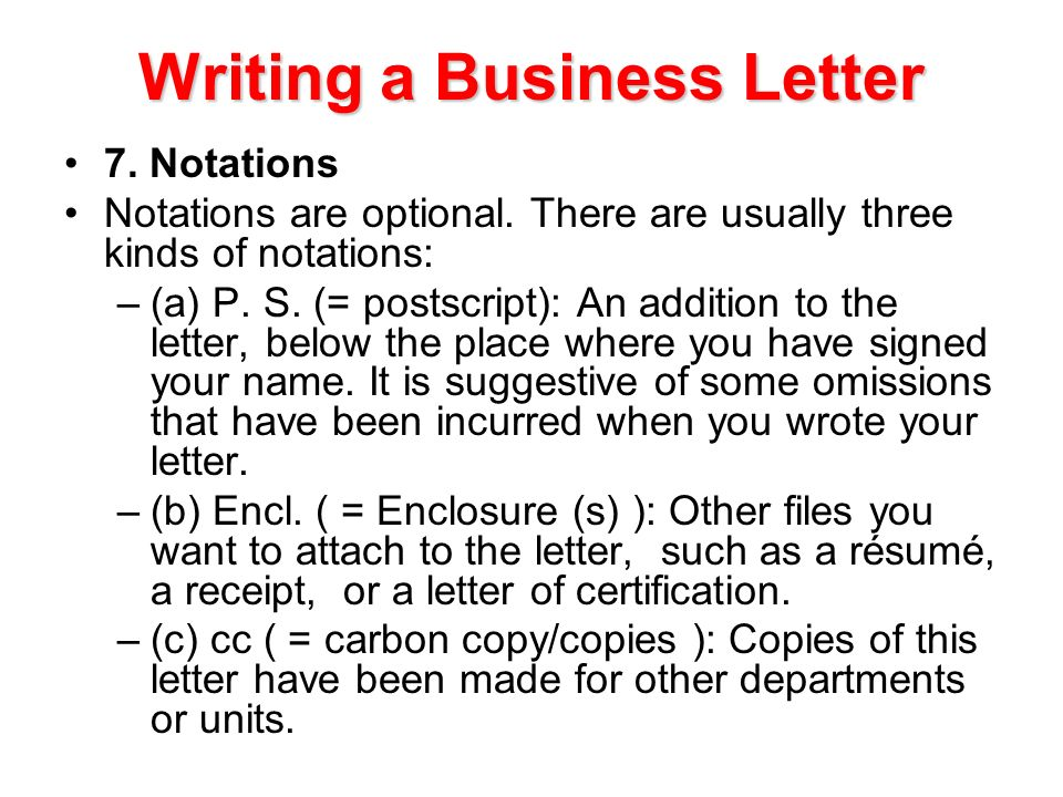 writing a business letter - Kind Of Business Letter