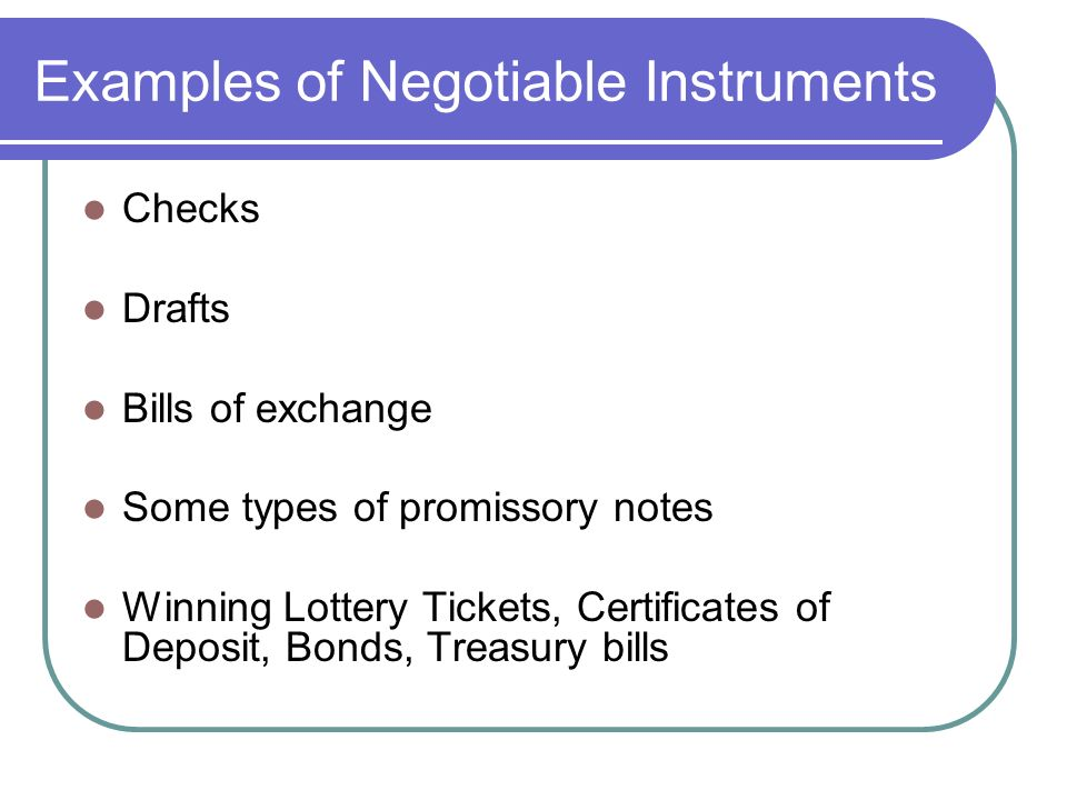 Negotiable Instruments Ppt Download