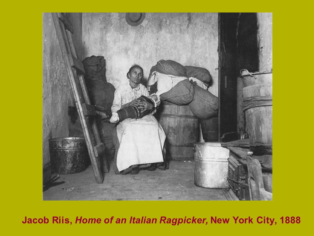 Jacob Riis, Home of an Italian Ragpicker, New York City, 1888