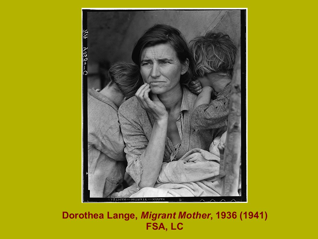 Dorothea Lange, Migrant Mother, 1936 (1941) FSA, LC