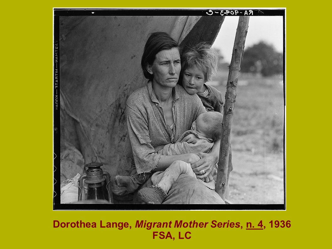 Dorothea Lange, Migrant Mother Series, n. 4, 1936 FSA, LC