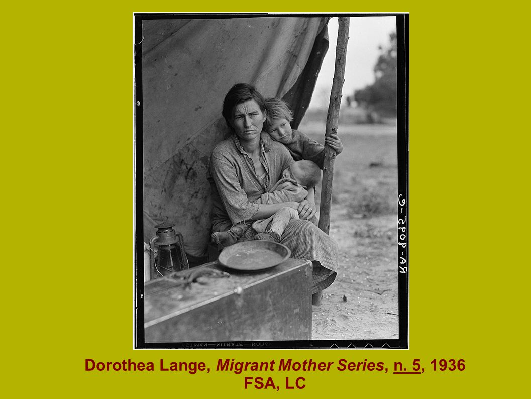 Dorothea Lange, Migrant Mother Series, n. 5, 1936 FSA, LC