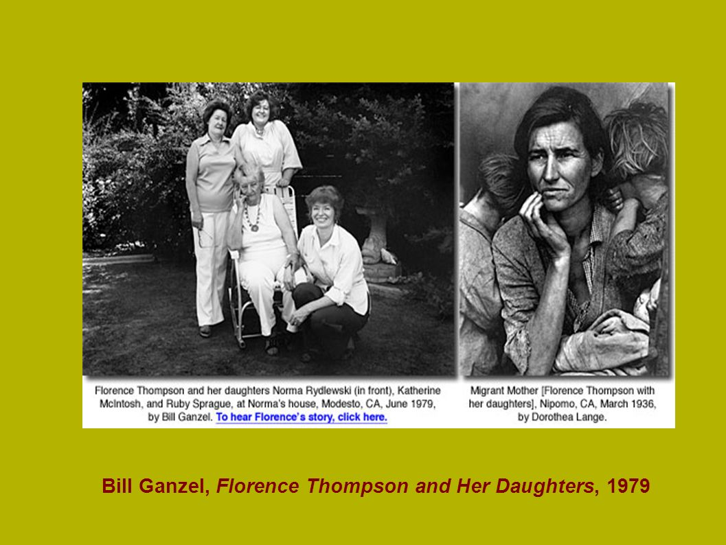 Bill Ganzel, Florence Thompson and Her Daughters, 1979