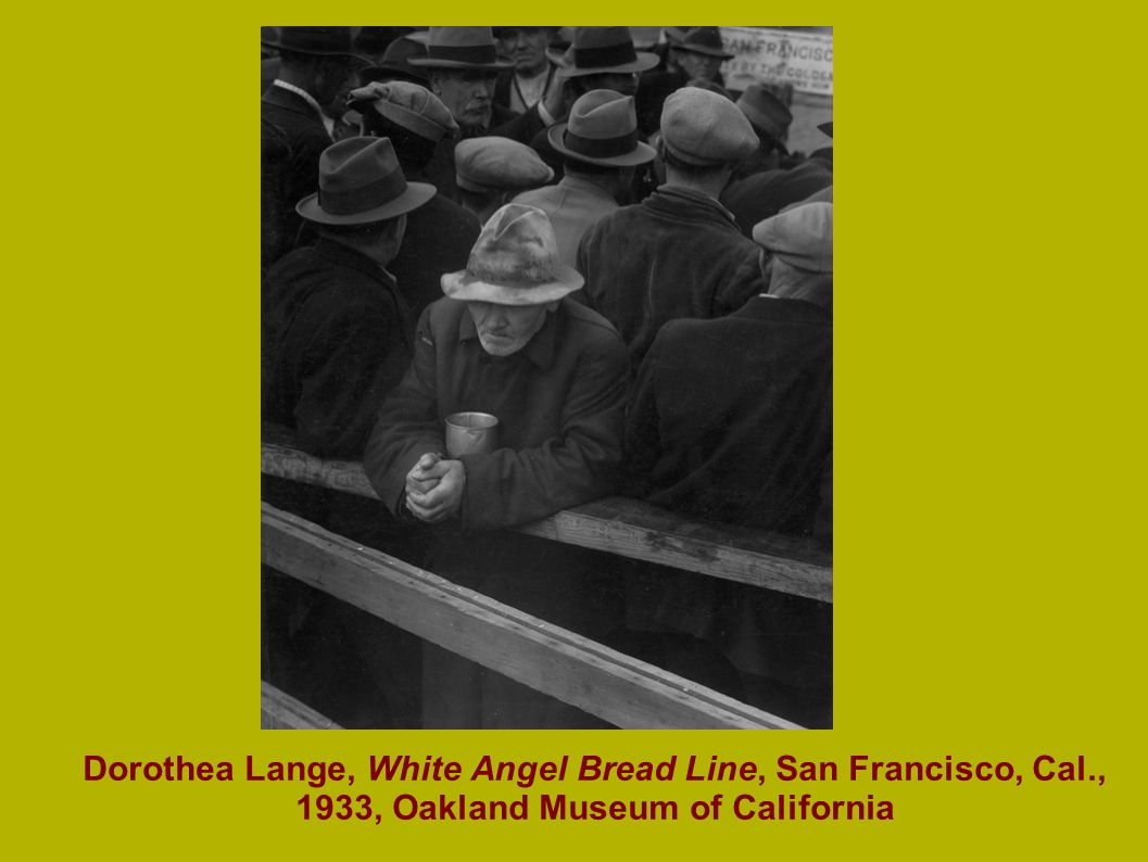 Dorothea Lange, White Angel Bread Line, San Francisco, Cal