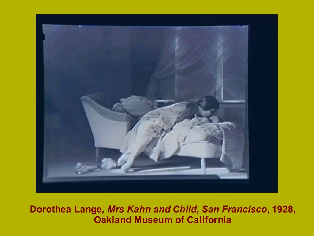 Dorothea Lange, Mrs Kahn and Child, San Francisco, 1928, Oakland Museum of California