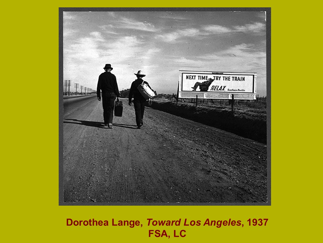 Dorothea Lange, Toward Los Angeles, 1937 FSA, LC