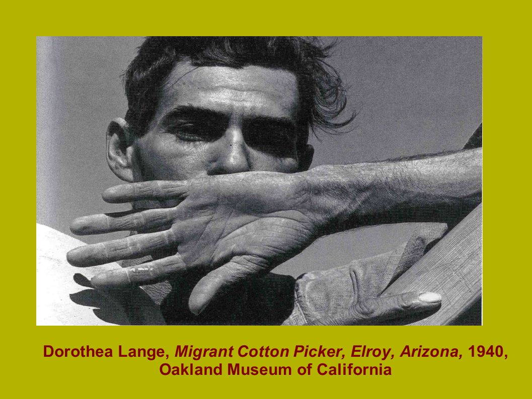 Dorothea Lange, Migrant Cotton Picker, Elroy, Arizona, 1940, Oakland Museum of California