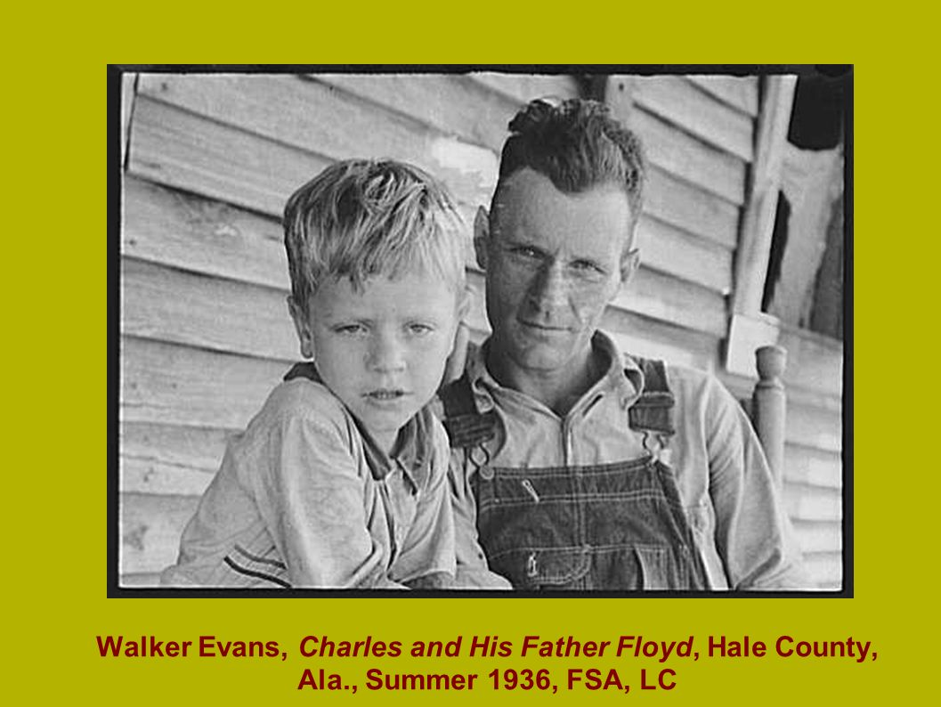 Walker Evans, Charles and His Father Floyd, Hale County, Ala