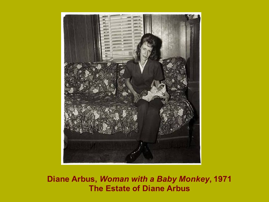Diane Arbus, Woman with a Baby Monkey, 1971 The Estate of Diane Arbus