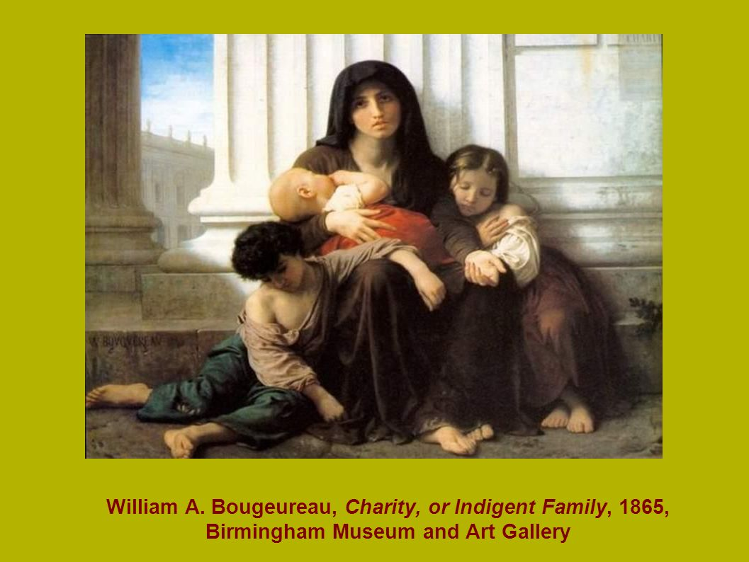 William A. Bougeureau, Charity, or Indigent Family, 1865, Birmingham Museum and Art Gallery