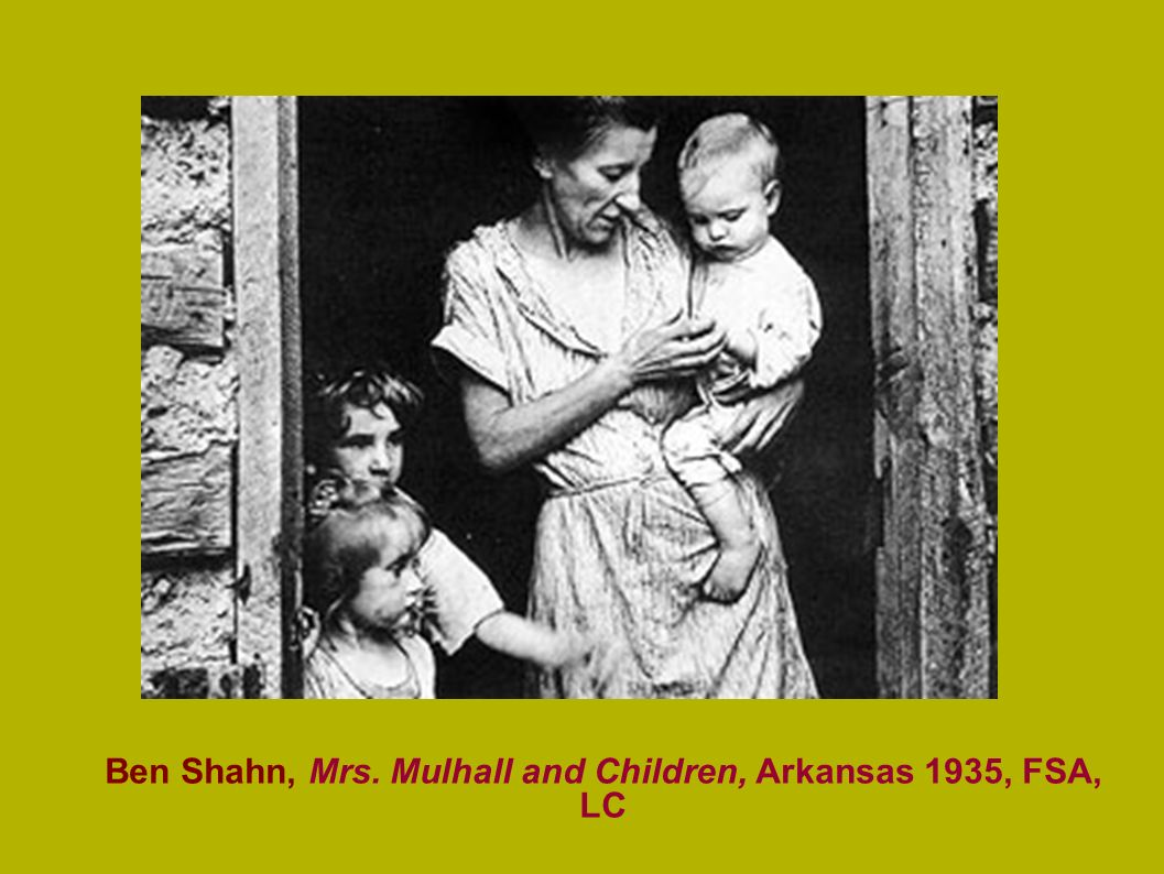 Ben Shahn, Mrs. Mulhall and Children, Arkansas 1935, FSA, LC