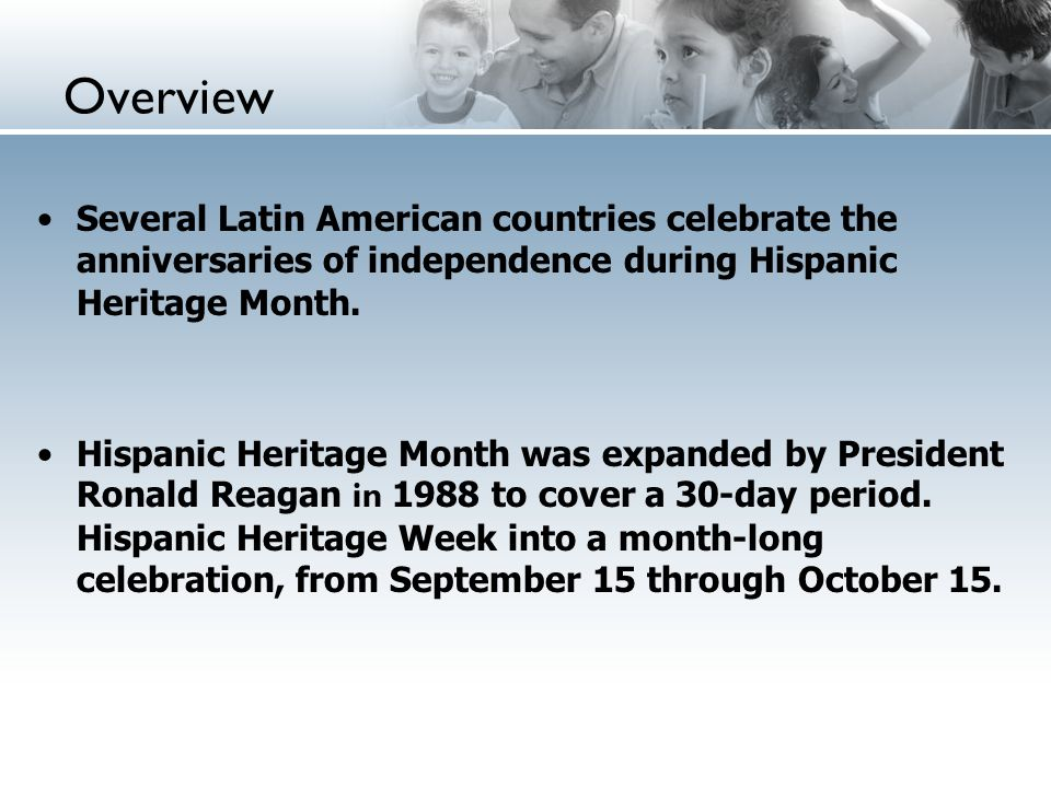 overview several latin american countries celebrate the anniversaries of independence during hispanic heritage month