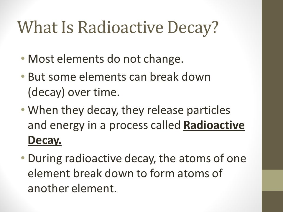 elements in radioactive dating