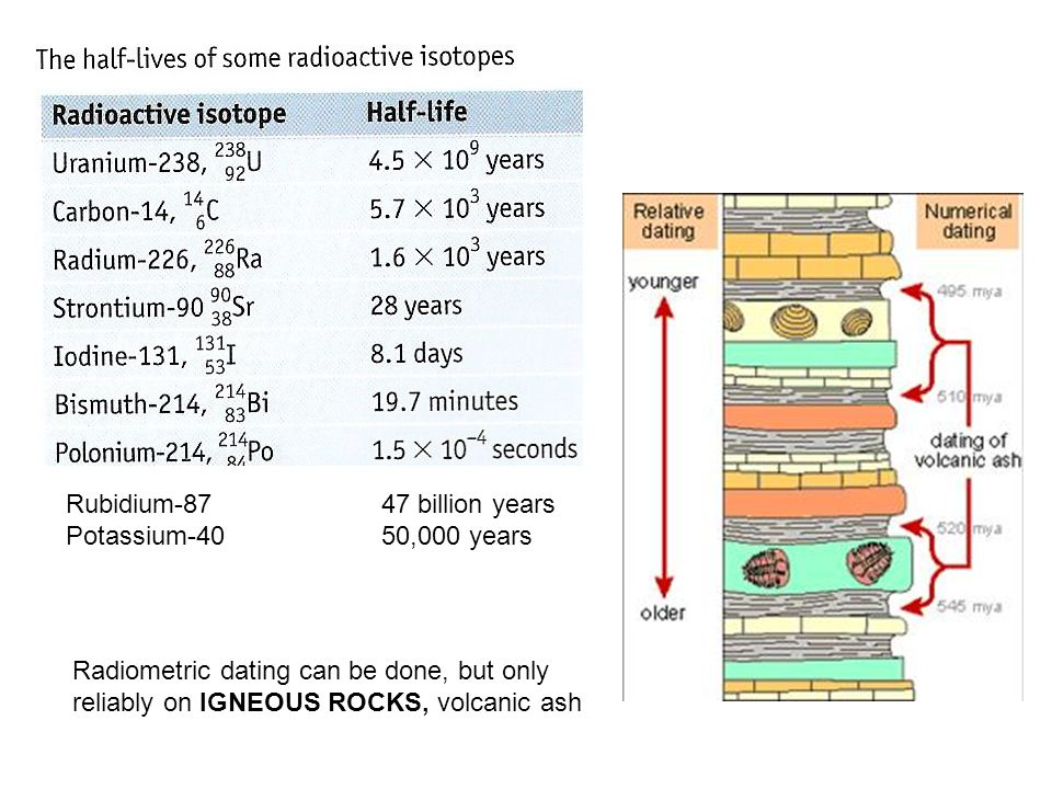 9. what is the main difference between relative dating and radiometric dating
