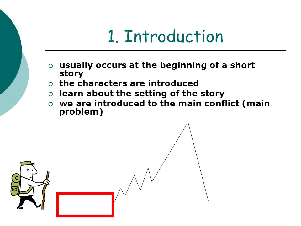 1. Introduction usually occurs at the beginning of a short story