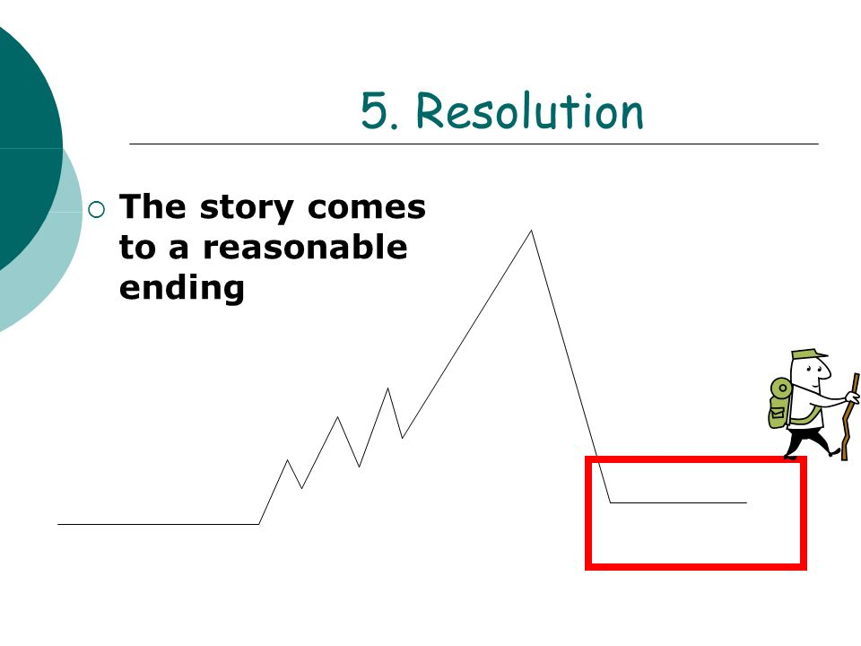 5. Resolution The story comes to a reasonable ending