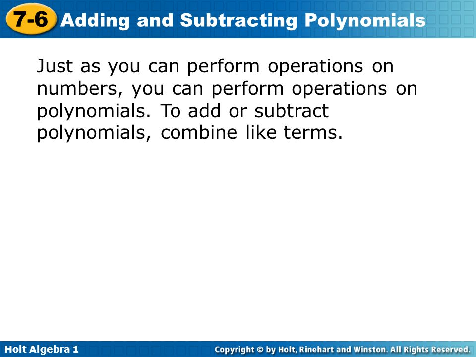 Warm Up Simplify Each Expression By Bining Like Terms 1 4x 2x. Just As You Can Perform Operations On Numbers Polynomials. Worksheet. Adding And Subtracting Polynomials Worksheet Perform The Operations At Mspartners.co
