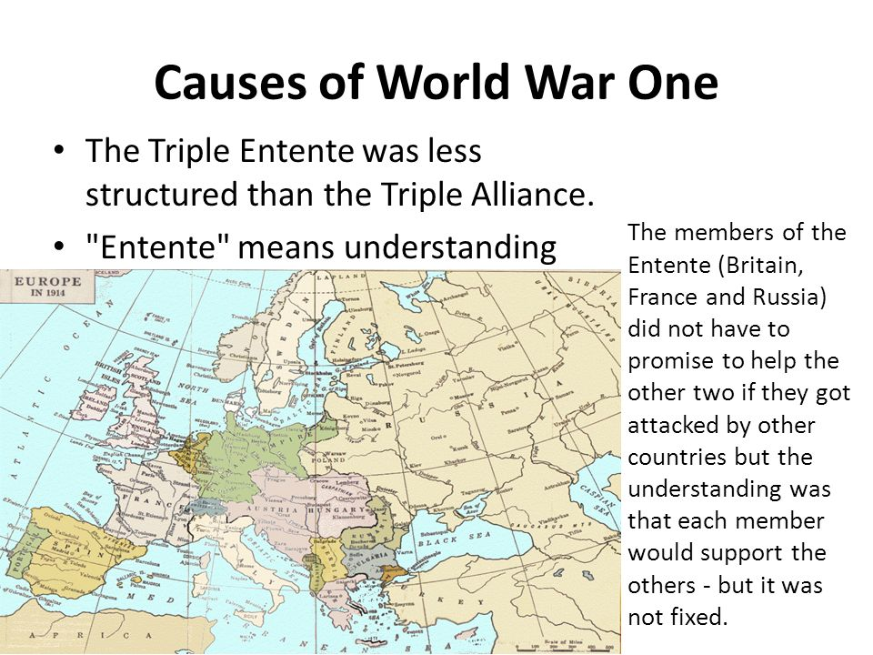 What countries made up the triple entente in world war 1