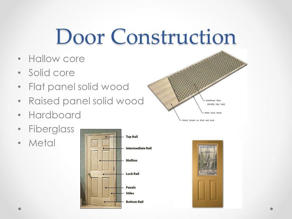 6 Door Construction Hallow Core Solid Core Flat Panel Solid Wood
