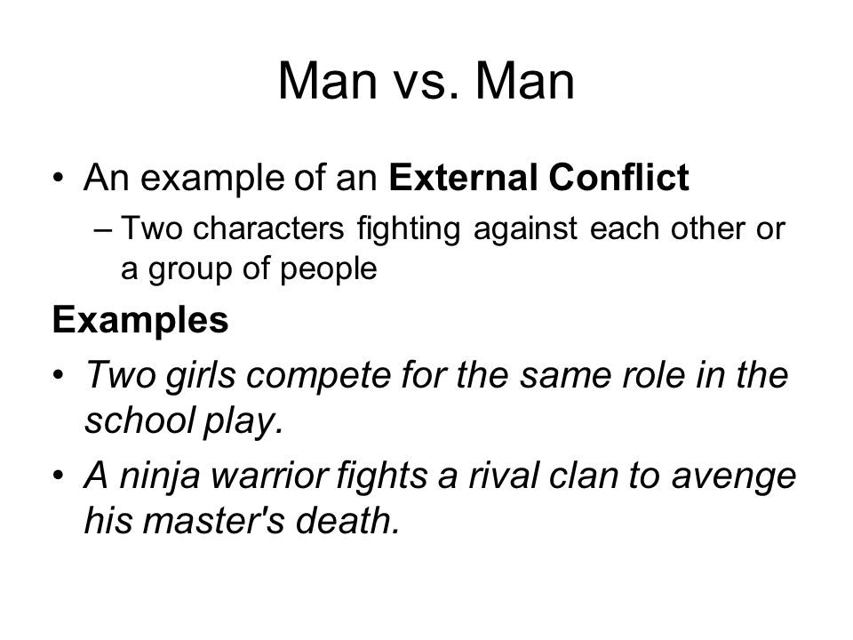 external conflict examples