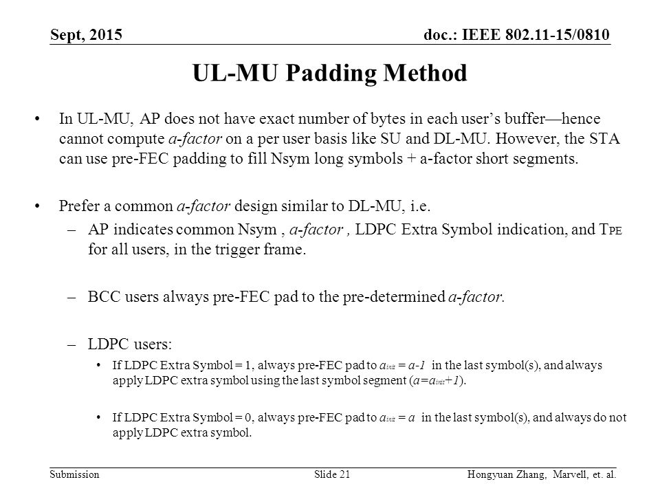 He Phy Padding And Packet Extension Ppt Download
