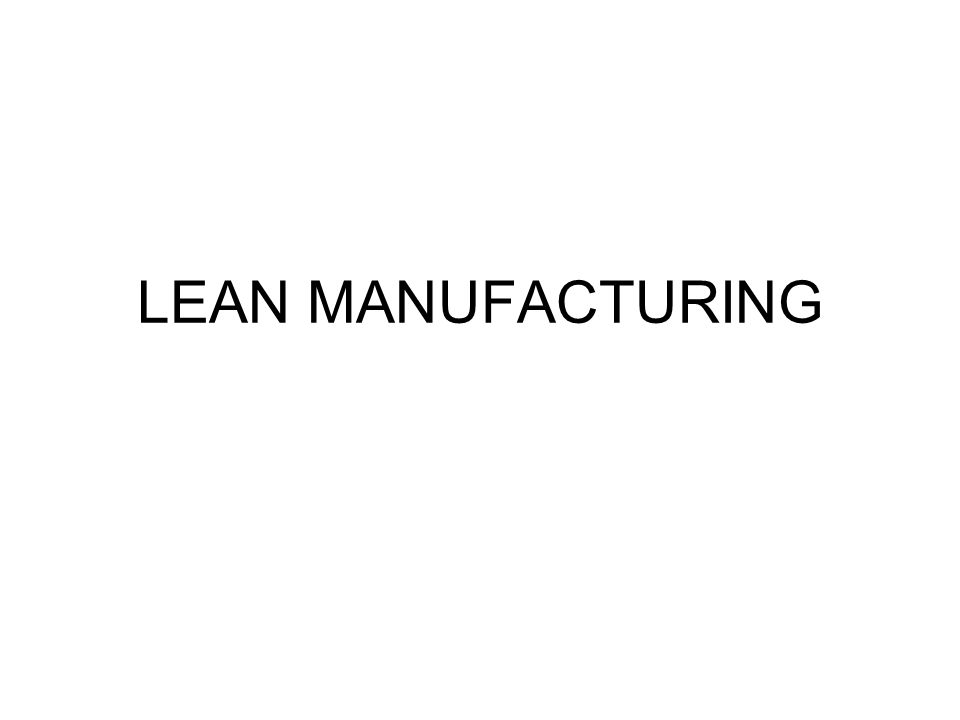 lean manufacturing ppt download