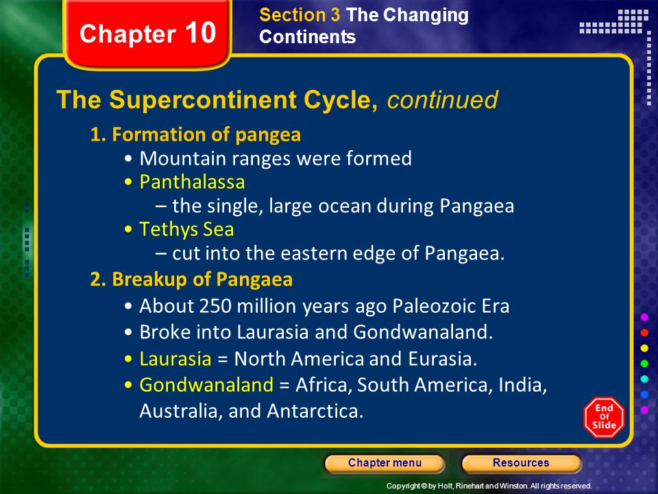 describe the supercontinent cycle
