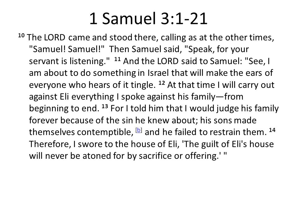 1 Samuel 3 1 21 God Is Calling Are You Listening Ppt Download