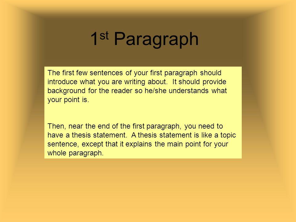 1st paragraph