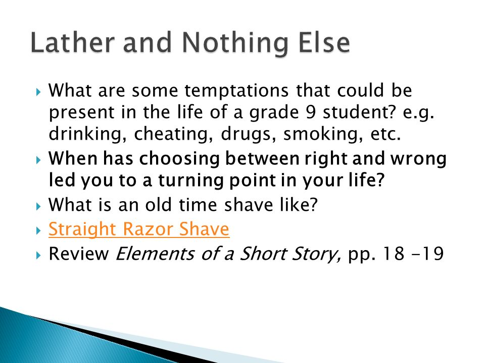 lather and nothing else short story