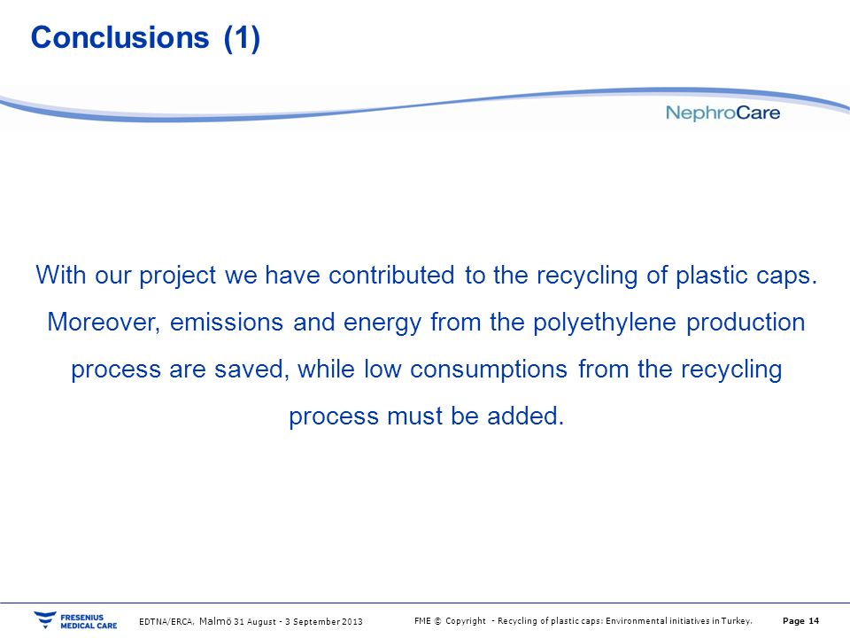 conclusion of recycling of plastic