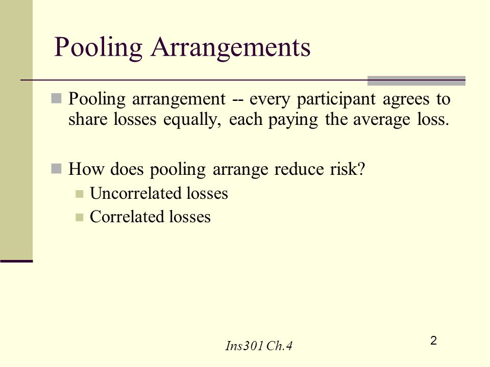 Risk Diversification And Insurance Ppt Video Online Download