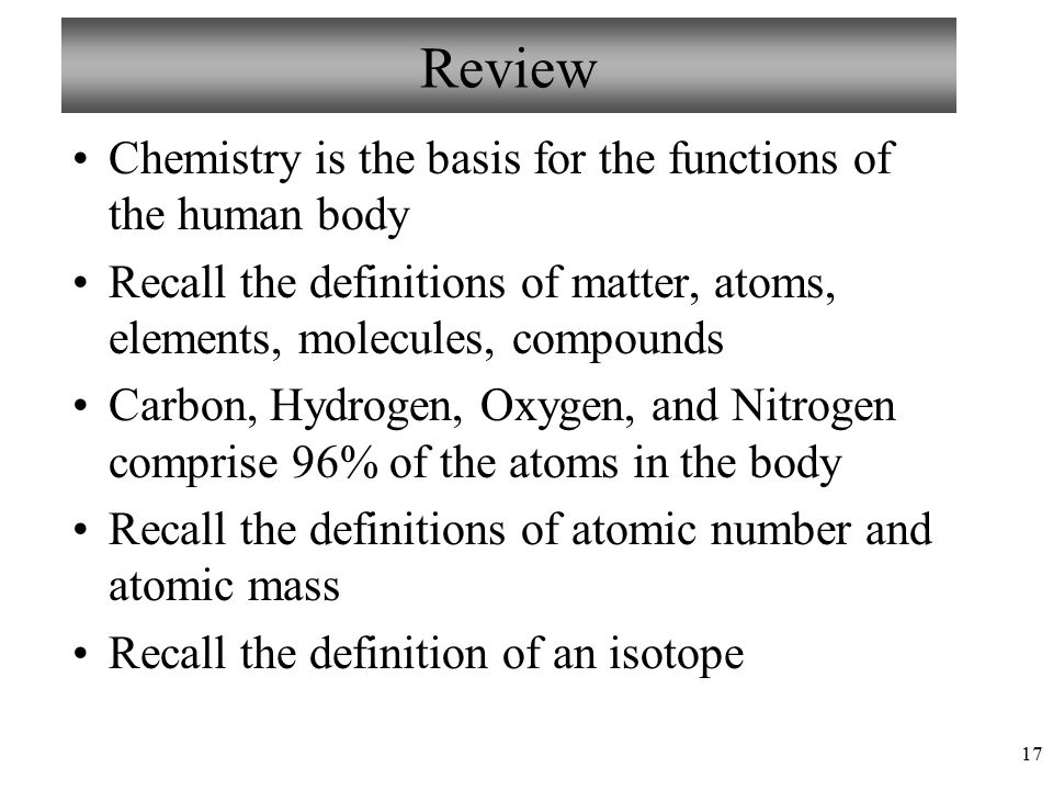 Human chemistry definition