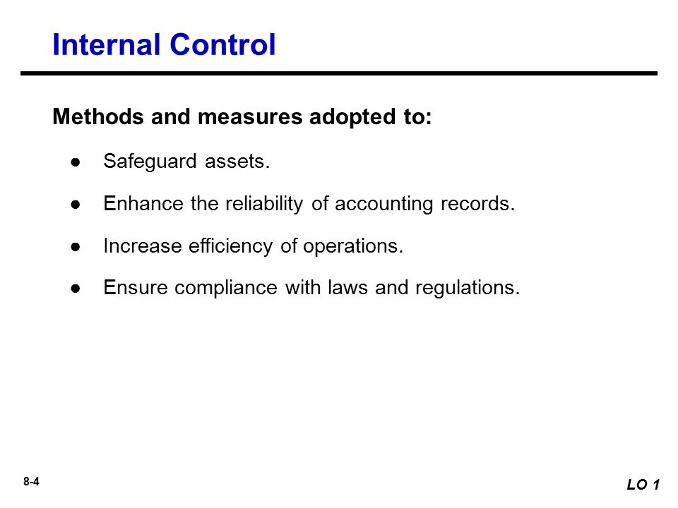 internal control procedures pdf