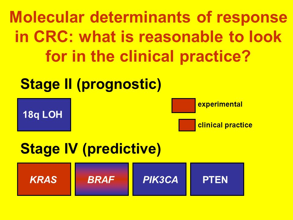 Molecular determinants of response in CRC: what is reasonable to look for in the clinical practice