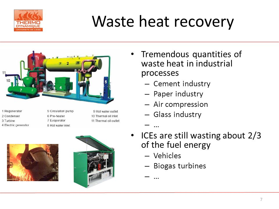 The Potential Of The Orc Technology For Waste Heat