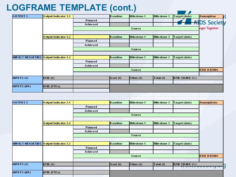 Laetitia lienart ias planning monitoring evaluation expert 32 logframe template cont maxwellsz