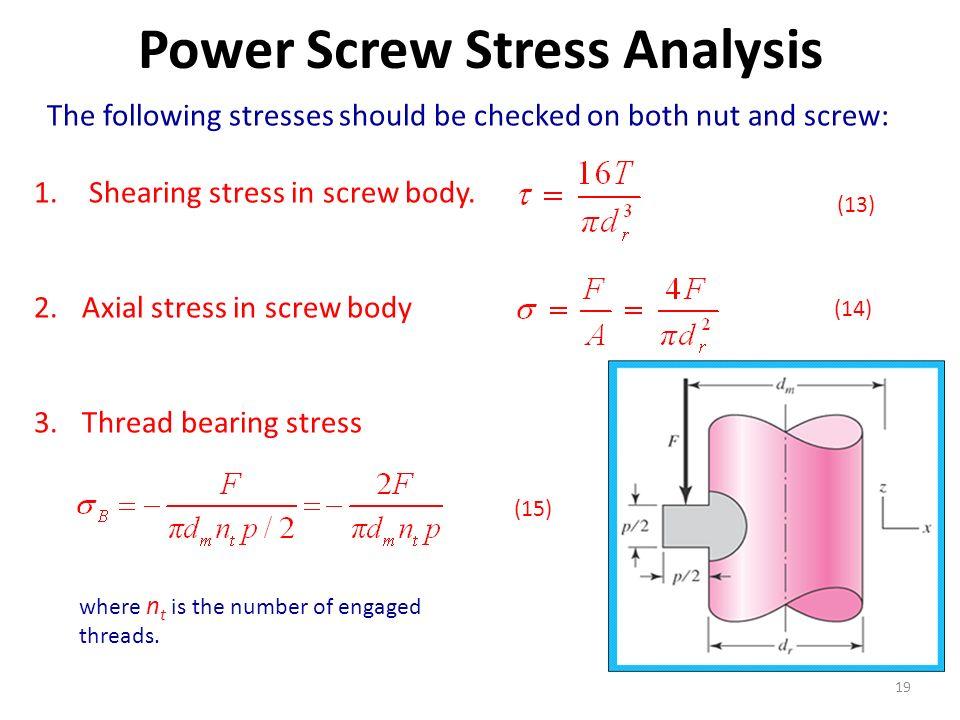 screw analysis
