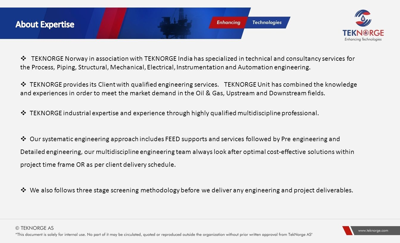Presentation Index Expertise Teknorge Work Flow Execustion Ppt Piping Layout Consultants 3 About