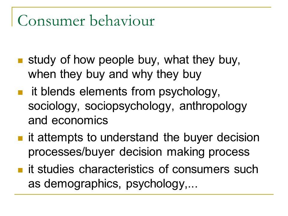 buying behaviour process