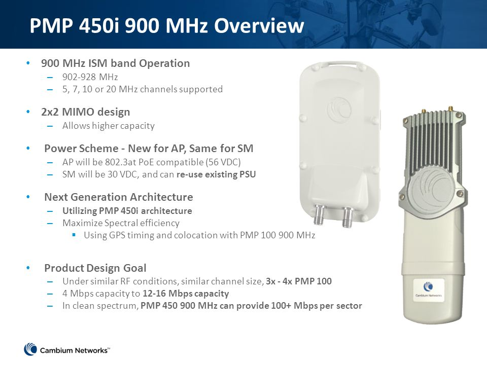 Cambium Networks PMP 450i 900MHz