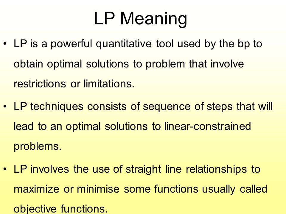 limitations of linear programming in managerial decision making