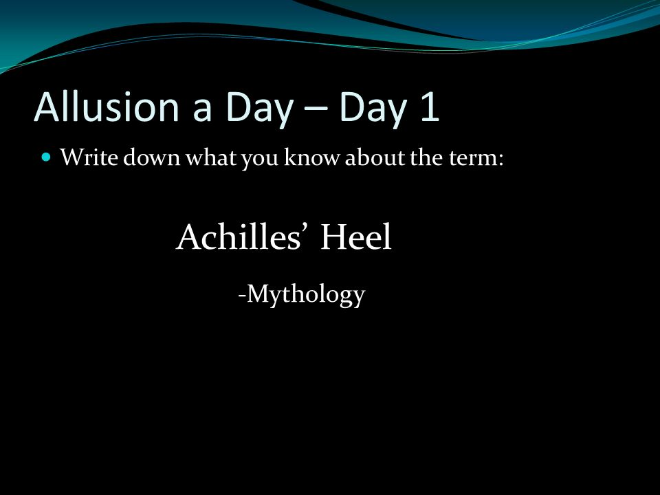 Allusion A Day Ppt Download