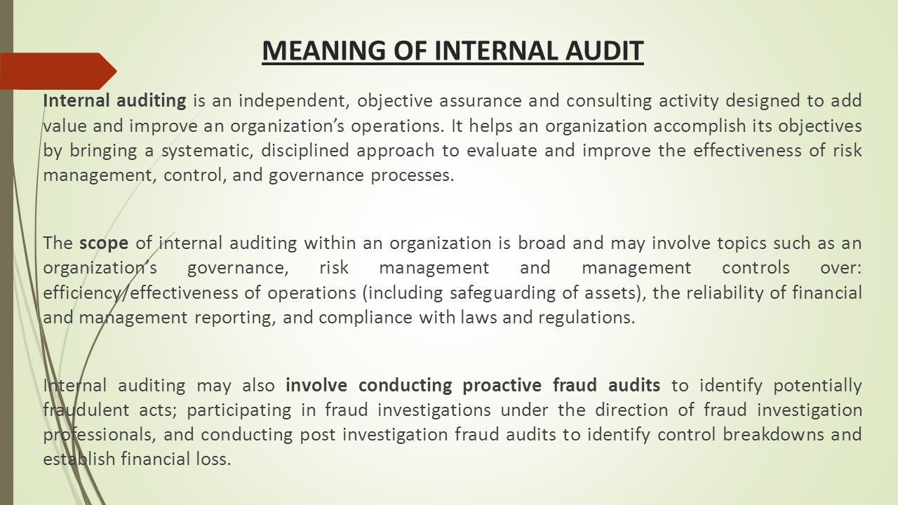 Internal audit: its concept and role in corporate activities