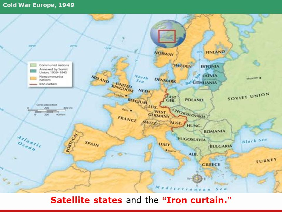 Cold War In Europe Map.Unit 6 The Cold War This Unit Will Cover The 1950s To The 1990s We