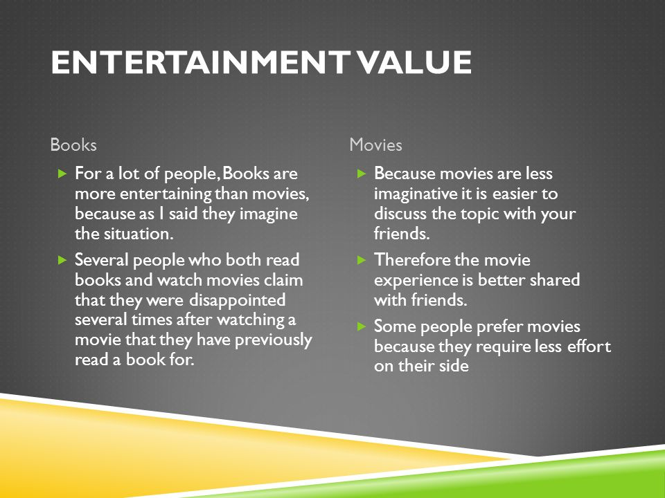 Movies Vs  Books By: Hamad AlMarzooqi - ppt video online