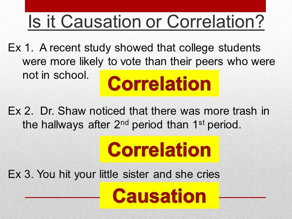 Correlation vs. Causation - ppt download