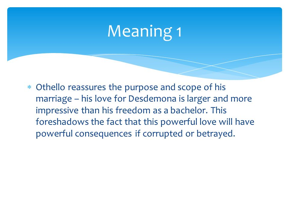 Quotes From Othello For Each Quote Guess The Speaker And Meaning